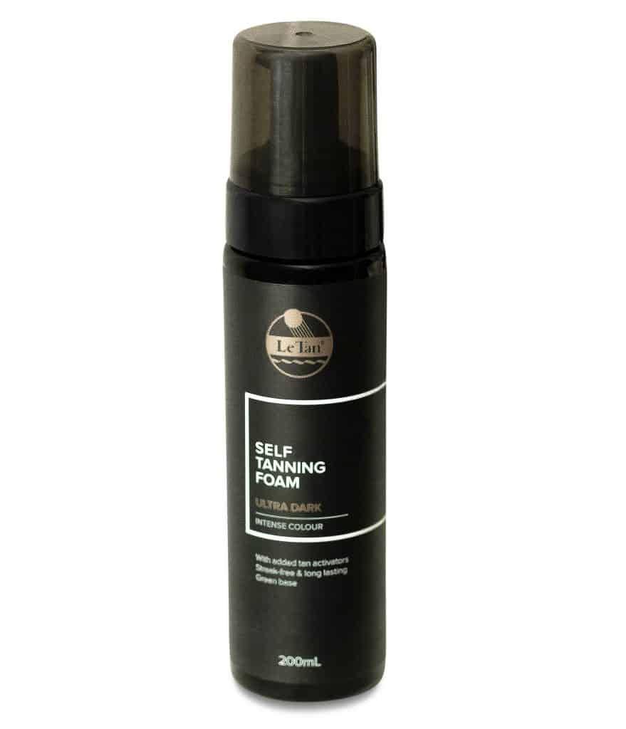 Bottle of Le Tan Ultra Dark Tanning Foam in 200ml